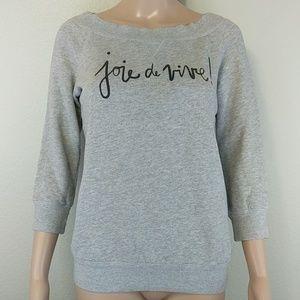 [Kate Spade] Joie de Vivre! 3/4 sleeve sweatshirt